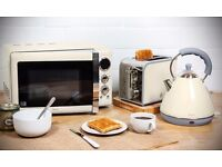 Brand new in box matching Microwave, Kettle & Toaster set -