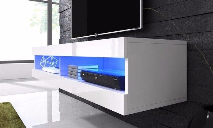 Floating TV Cabinet with LED Lights (Brand New in Box) EXCELLENT BARGAIN BUY! RRP £189