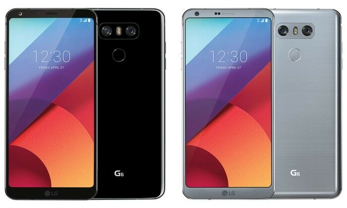 Android Phone - LG G6 - 32GB - Platinum White Black AS993  Smartphone Unlocked 9/10