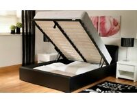 King Size Ottoman Storage Bed Frame, With Memory Foam Mattress
