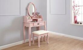 Pink Dressing Table & Stool *NEW in box*