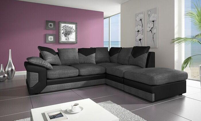 new Windsor dino sofa in black grey jumbo cord fabric