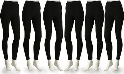 Leggings - 6-Pack Super Comfort Ladies Opaque Fleece-Lined Leggings