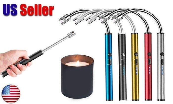Flexible Electric Lighter USB Rechargeable Candle BBQ Stove Flexible Long Neck Collectibles