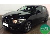 £201.76 PER MONTH BLACK 2013 BMW 116D 2.0 SPORT STEP 3 DOOR DIESEL AUTOMATIC