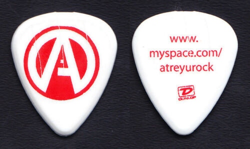 Atreyu White/Red Myspace Concert-Used Guitar Pick - 2008 Tour