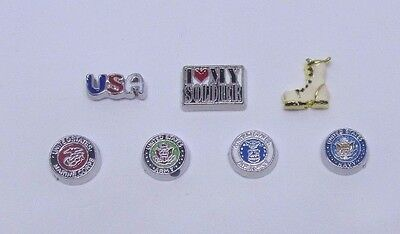 military air force army navy marines corp boot Floating charms for living locket