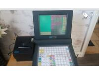 touch screen and button till system with printer
