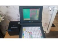 button and touch screan till with cash drawer and printer