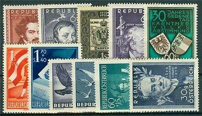 Österreich Jahrgang 1950 Michel Nr. 948-958 postfrisch