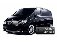 8 and 16 seater minibus with driver for hire.Cheap heathrow minibus hire.16 seater minibus heathrow.