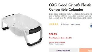 Good Grip Plastic Convertible Colander by OXO