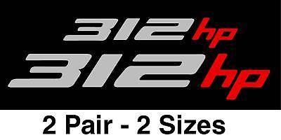 2010 2011 2012 CHEVROLET CAMARO STICKERS 312HP DECALS 2pr. (Fits:Camaro)
