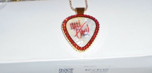 Hall & Oates Rock Band Concert Pick Pendant Love Music Chain Rich Girl Kiss Gone