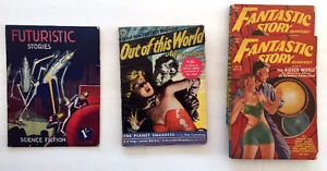 46 Science Fiction Pulp Magazines - 1939 to 1954