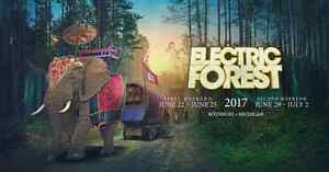 Electric Forest 2017 ticket