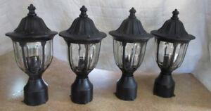 4  Lampadaires extérieurs (Lanternes post)
