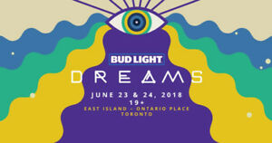 3 full weekend Dreams Tickets