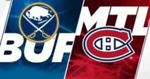 Billets Hockey Canadiens vs Buffalo Section 103 ROUGE
