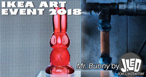 Ikea Art Event 2018 - JLED Bunny (Glass) Collectable, Kidrobot