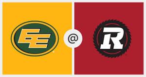 RedBlacks vs Eskimos 2 Seats Sec G Row 31