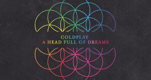 Coldplay Floor Tickets BELOW FACE OBO Edmonton Sept 27 Aisle Row