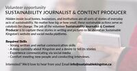 Volunteer Sustainability Journalist & Content Producer