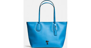 Blue Coach X Peanuts Taxi Tote In Leather