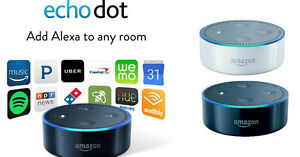 BRAND NEW Amazon Echo Dot (2nd Generation) Alexa- Black or White West Island Greater Montréal image 1