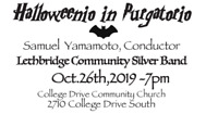 Lethbridge Community Silver Band HALLOWEEN CONCERT!!!