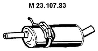EBERSPÄCHER Mittelschalldämpfer 23.107.83 für KLASSE MERCEDES W245 mitte 180 CDI
