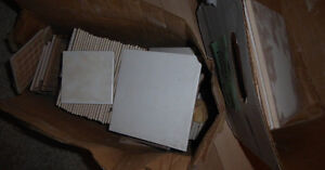 3 sizes of tiles $ 5, NEW standard white unsanded wall grout $5