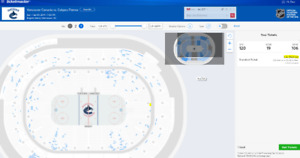 Two tickets Feb.09 7:00pm Vancouver Canucks vs. Calgary Flames
