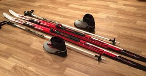 TecnoPro Active Cross Country Skis Junior 63in with Boots sz 2.5