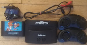 Mini Sega Genesis, 2 controllers and Sonic