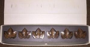 Set of 6 Maple Leaf Pottery Barn Napkin Rings