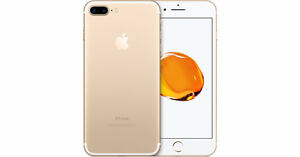 iPhone 7 Plus 128GB Gold w/ Case + Tempered Glass ROGERS