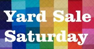 3 Sellers - Yard Sale - Starting 8AM due to weather