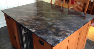 "Faux Finish Granite-Look Countertop 42"" x 55"" x 3/4"""
