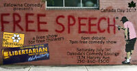 The Libertarian Party presents a Free Speech Comedy Show its FRE