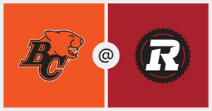4 Amazing Red Black vs BC Lions Tickets Row 7 30 yard line SS