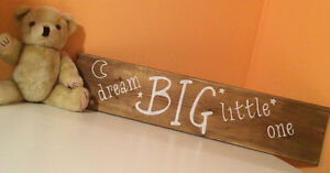 2' dream BIG little one sign