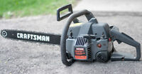 "CRAFTSMAN 18"" 42cc GAS CHAIN SAW"