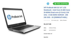 "Brand new HP ProBook 640 G2 14"" Notebook - Intel Core i5 (6th Ge"