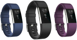 FITBIT CHARGE 2 FITNESS TRACKER (LARGE) - #BLACK #BLUE #PLUM