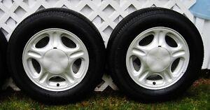 "4 m&s P205/65R15 Tires on Ford Taurus Mercury Sable Rims 15"" Prince George British Columbia image 3"