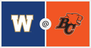 Buy Tickets for BC Lions vs. Winnipeg Blue Bombers