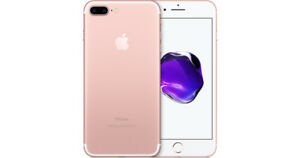 iPhone 7 Plus 256GB Unlocked (Rose Gold), $800