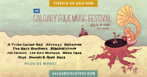 Calgary Folk Fest 4 Day Pass for Sale - Early Bird Pricing!