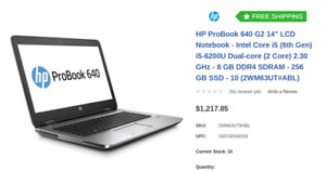 "Brand new HP ProBook 640 G2 14"" LCD Notebook - Intel Core i5 (6t"